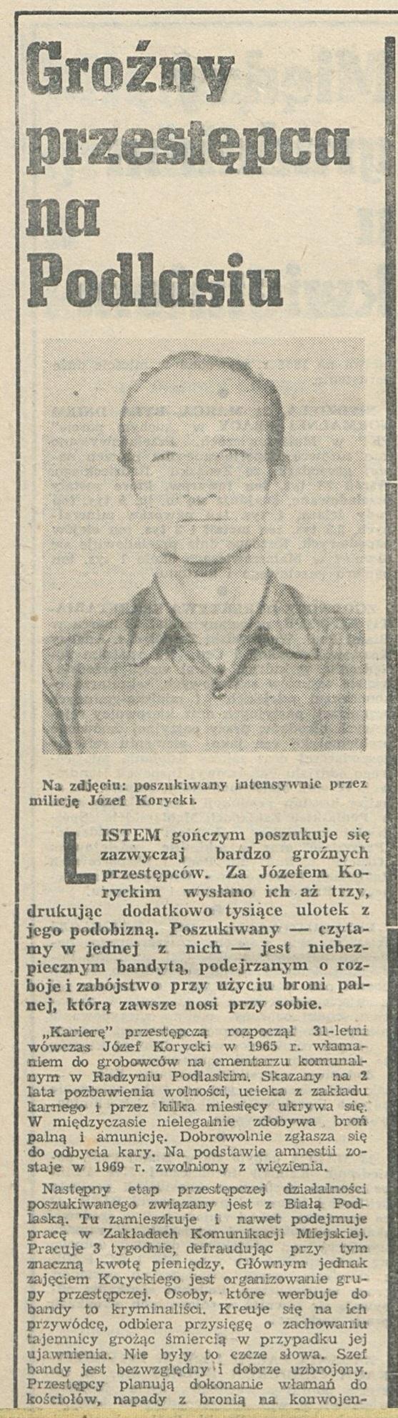 Korycki Janosik Podlasi